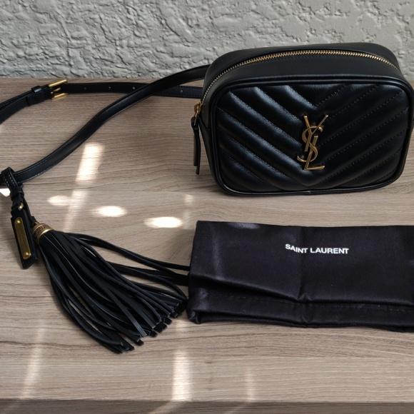 Lou Belt bag Matelassé Leather Black